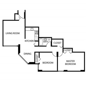 2 Bed High Rise