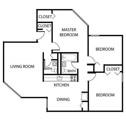 3 Bed Low Rise Floor Plan 4