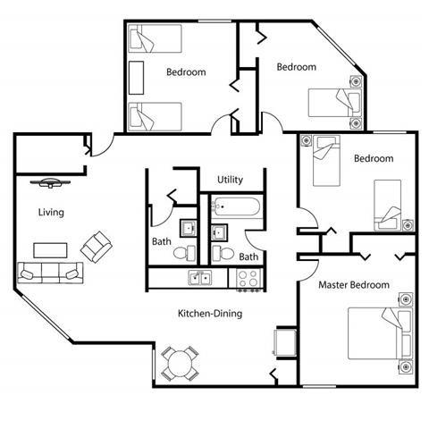 4 Bed Low Rise Floor Plan 5