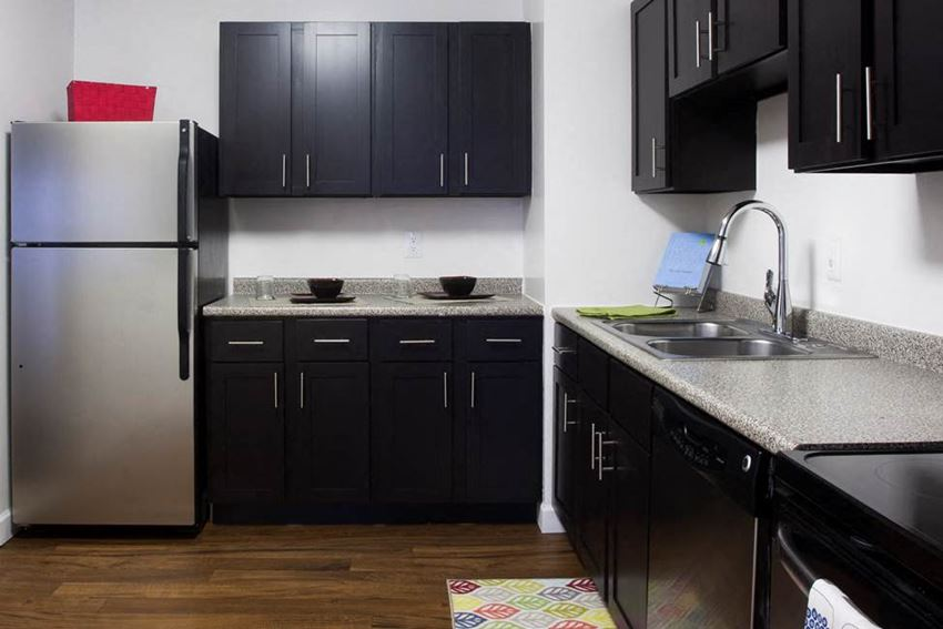 All Electric Kitchen at The Pointe at St. Joseph Apartments, South Bend, IN,46617