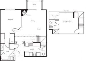 CBHP 1 Bed 2 Bath Buckingham + Loft