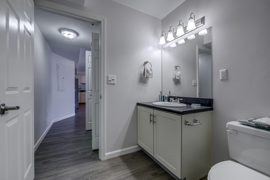 Master Bath Lighting at Carisbrooke at Manchester, Manchester, New Hampshire