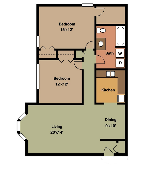 Abbey (1st Floor) Floor Plan 1