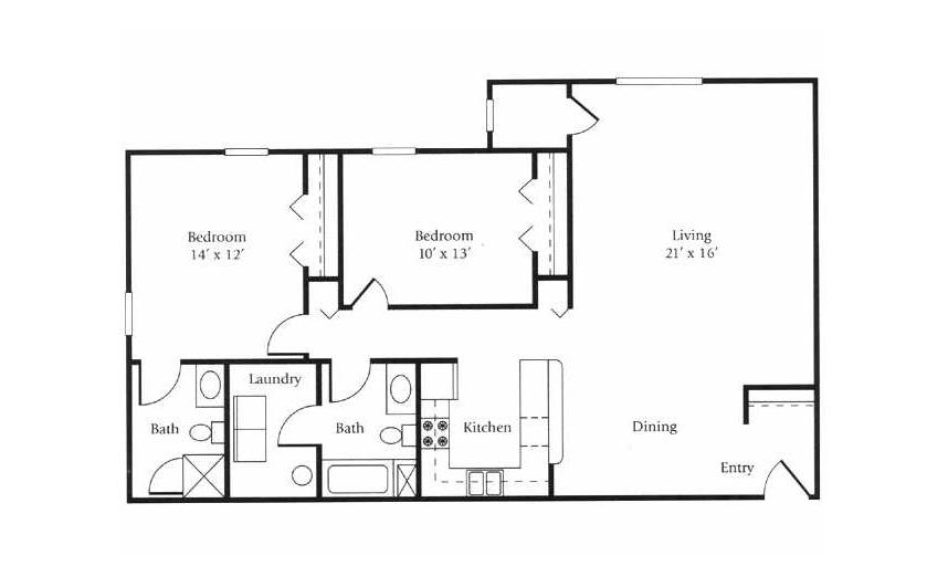 The Windjammer Floor Plan 4