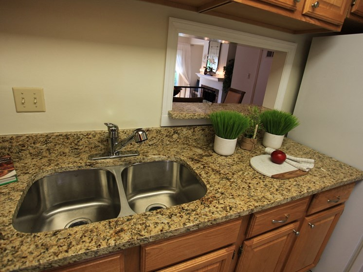 Double Stainless Steel Sink at Indian Creek Apartments, Cincinnati, 45236