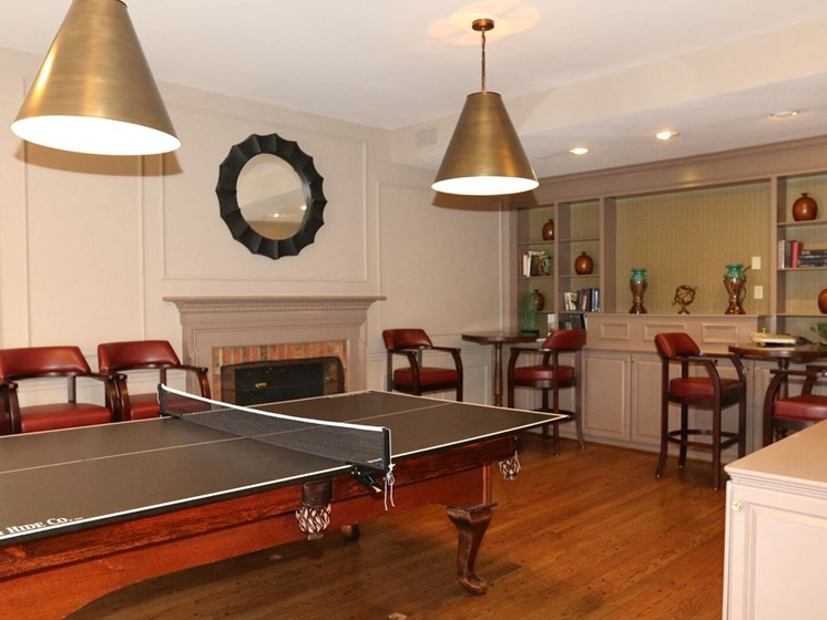 Table Tennis In Clubhouse at Indian Creek Apartments, Cincinnati, Ohio