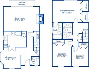 Three Bedroom Townhome I