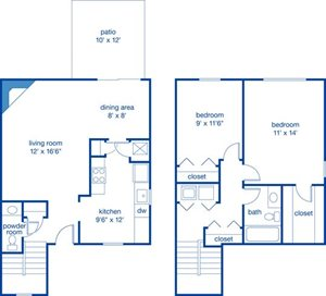 Two Bedroom Townhome III
