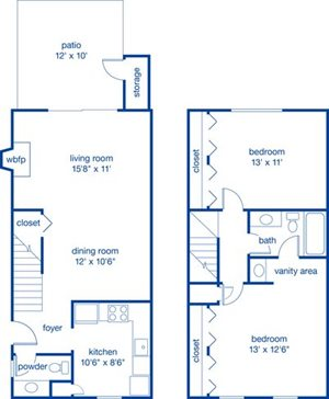 Two Bedroom Townhome II