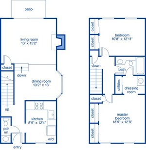 Two Bedroom Townhome V