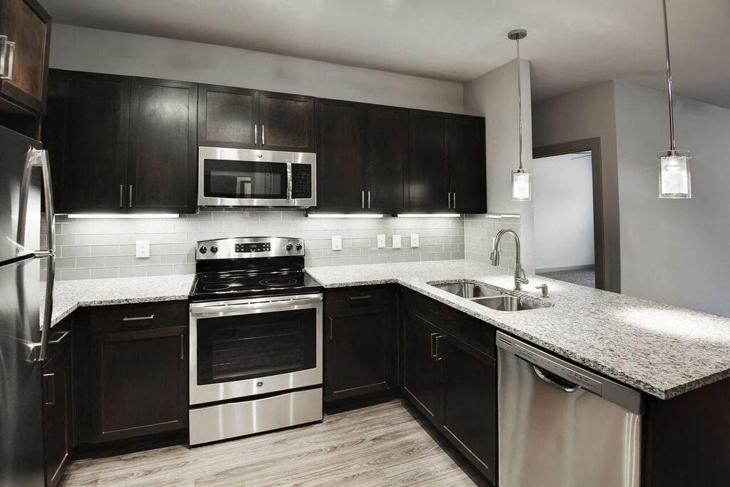 Designer Granite Countertops In All Kitchens At Dwell Legacy San Antonio TX