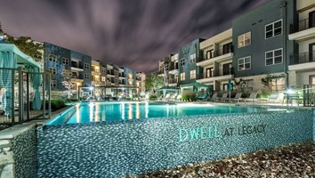 Infinity Edge Pool with Cabanas at Dwell at Legacy, San Antonio, TX, 78259