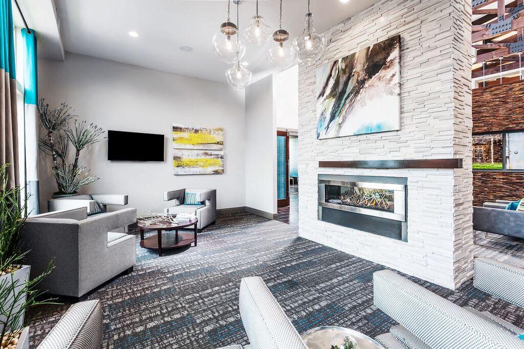 Luxurious Living Room At Dwell At Legacy, San Antonio, TX,78259