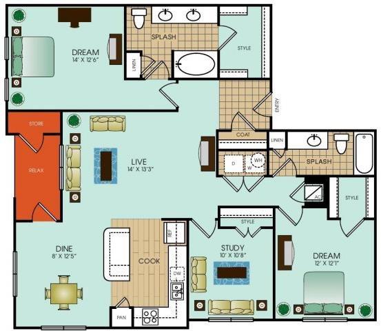 C1 Floor Plan 47