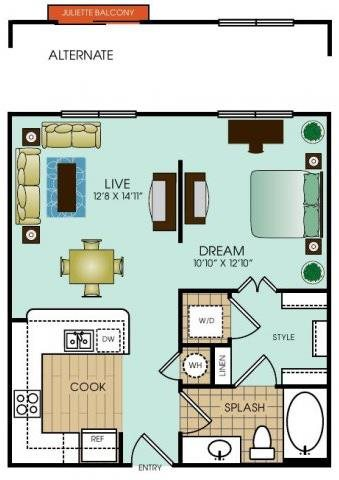 Studio 1 Floor Plan 13