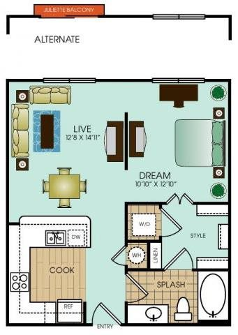 Studio 2 Floor Plan 14