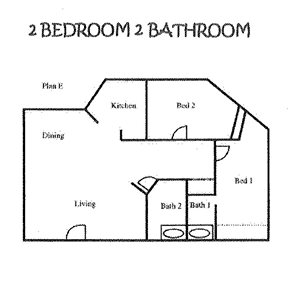 2 Bedroom/2 Bath