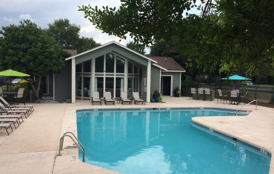 Pool with Brand New Furniture at Hawthorne Westside