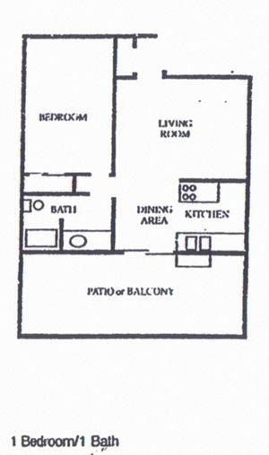 1 Bedroom/1Bath