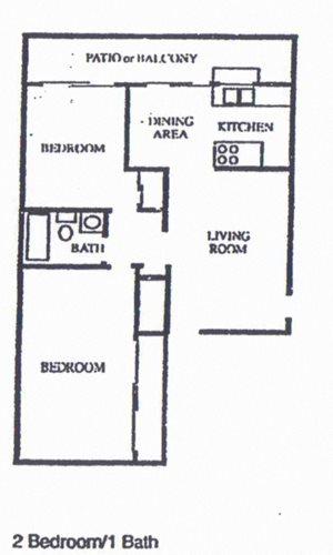 2 Bedroom/1 Bath