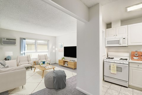 Living Room of a 1 bedroom at Nutwood East Apartments