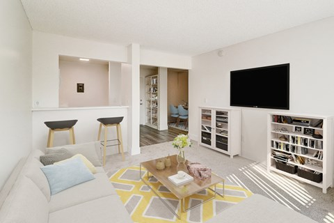 Living Room area of a 2 bedroom at Nutwood East Apartments