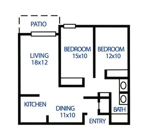 Two Bedroom, One Bath