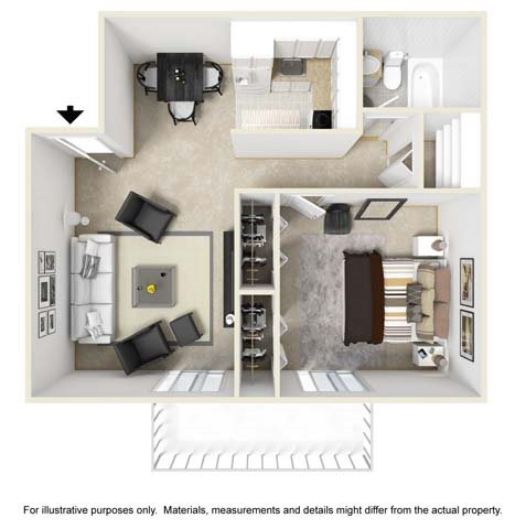 Midway Floor Plan at Tates Creek Village Apartments in Lexington KY