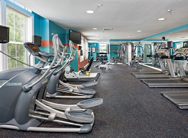 Fitness Center at Smiths Landing Apartments in Blacksburg VA