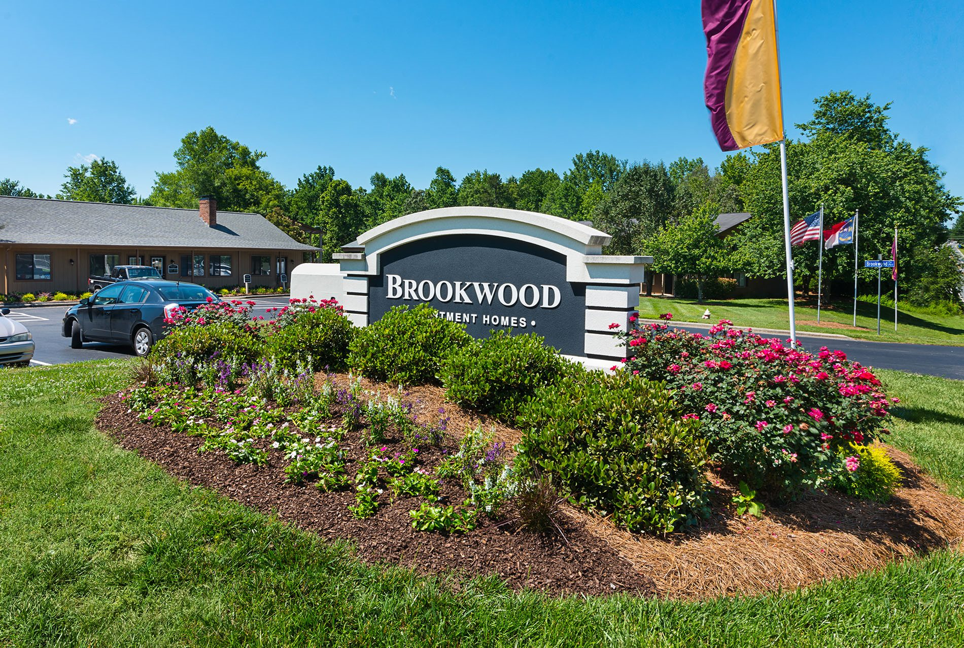 Front Signage at Brookwood Apartment Homes in Archdale, North Carolina, NC