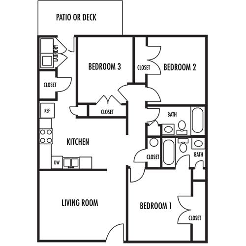 Apartmentreviews Com: Floor Plans Of Gable Oaks In Rock Hill, SC