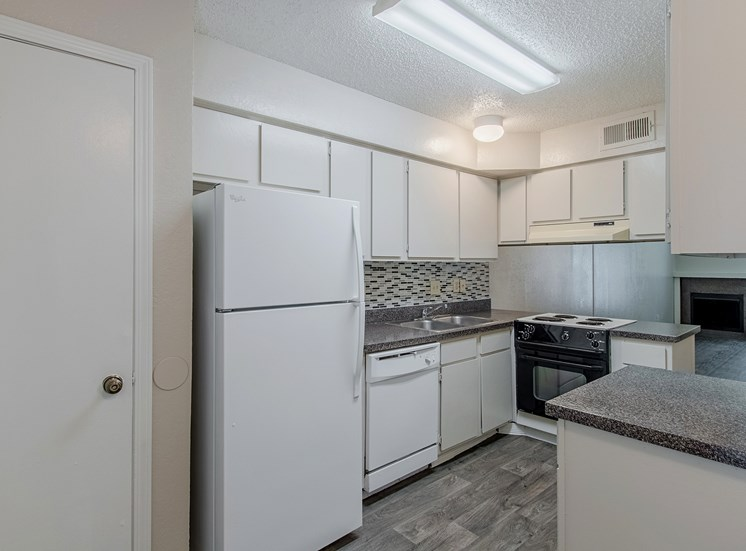 Model Kitchen at Parkwood Plaza Apartments in Duncanville, Texas, TX