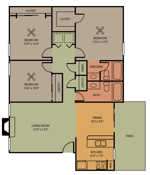 Hattiesburg Floor Plan 7