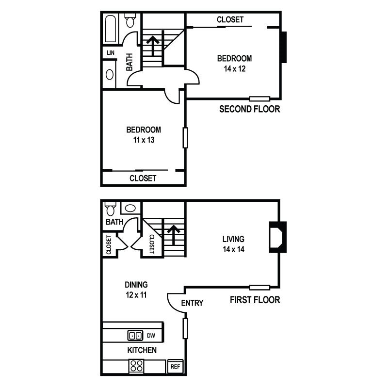 Floor Plan B3 at Sedona Ranch Apartments in Dallas, Texas, TX