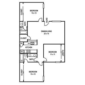 Floor Plan C1 at Sedona Ranch Apartments in Dallas, Texas, TX