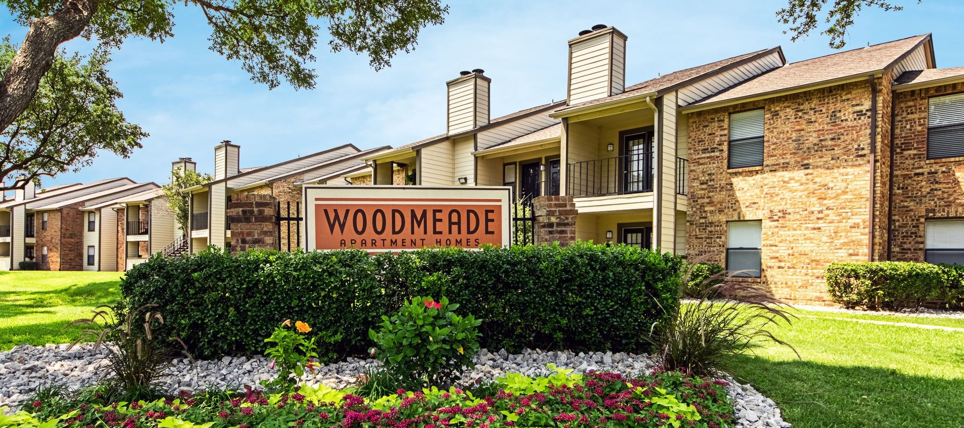 Signage at Woodmeade Apartments in Irving, Texas, TX