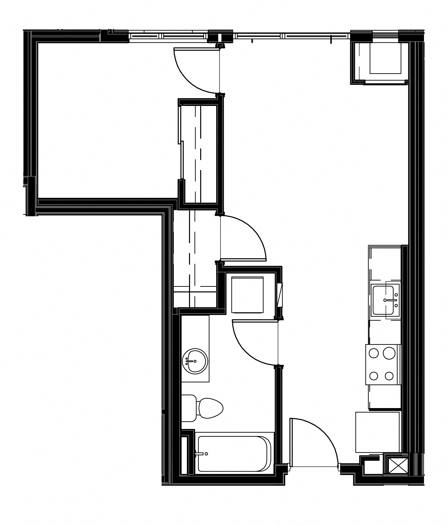 1 bedrooms Floorplan at Astro Apartments