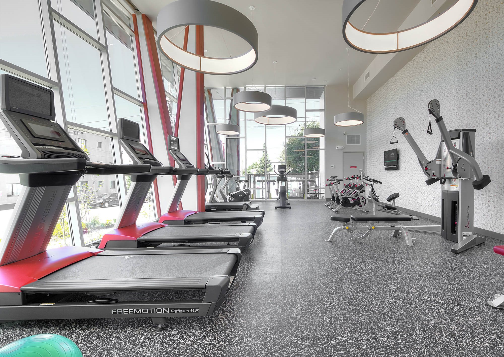 Up-to-date Fitness Studio with Cardio and Weight Training Equipment  at Astro Apartments, Seattle, WA,98109