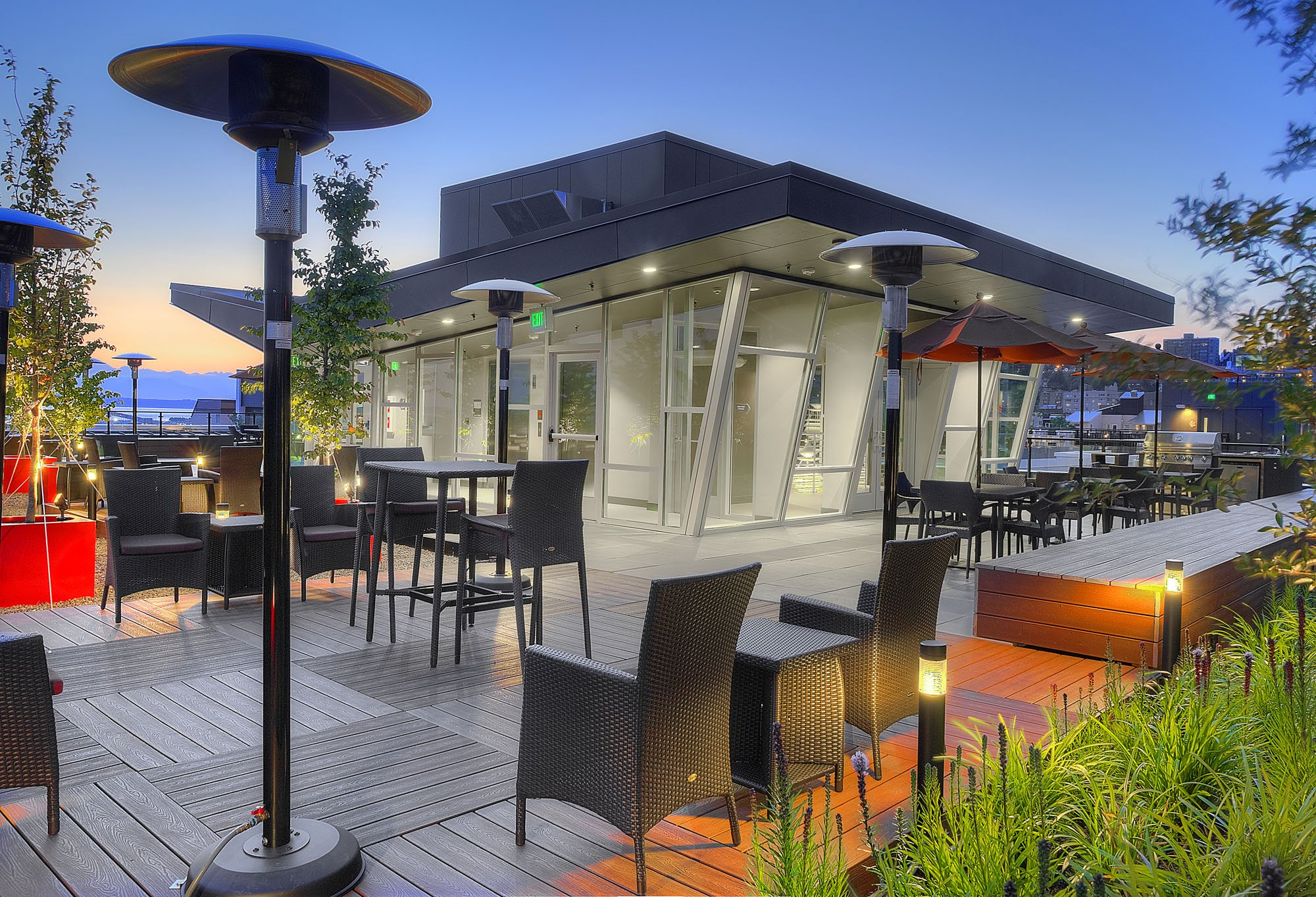 Rooftop Deck at Astro Apartments, Seattle, WA,98109