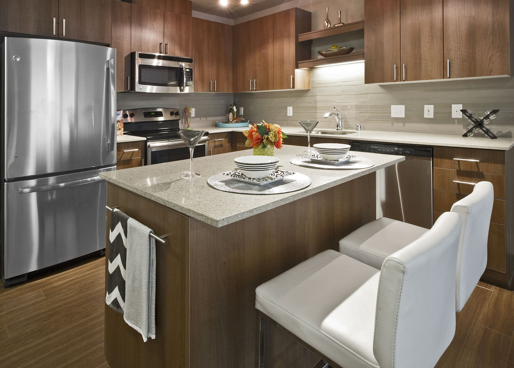 GE Stainless Steel Kitchen Appliances at Astro Apartments, Seattle, WA,98109