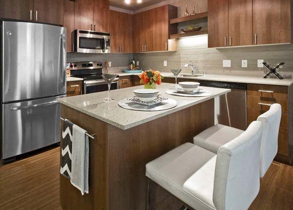 Large Kitchen Islands at Astro Apartments, Seattle, WA,98109