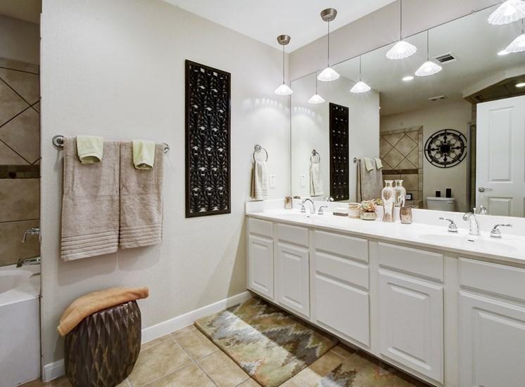 Bathroom Interior at Nalle Woods Apartments in Austin, Texas