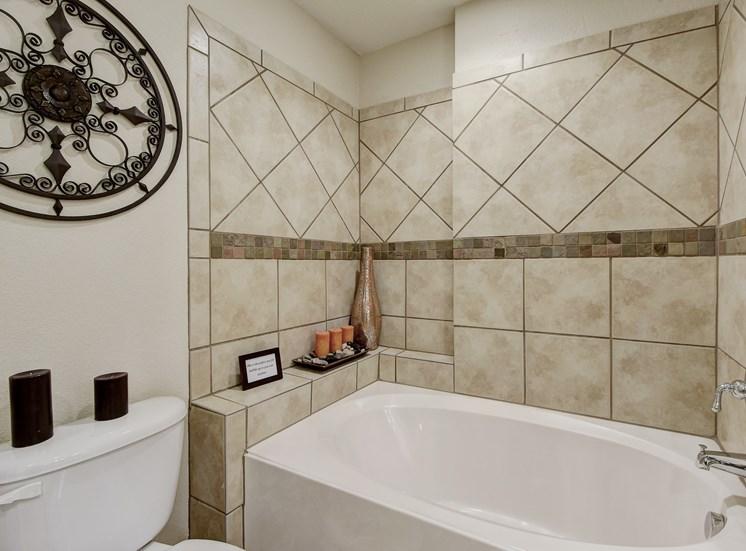 Bathroom Tub at Nalle Woods Apartments in Austin, Texas
