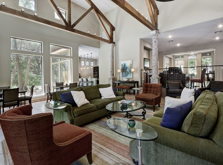 Clubhouse Lounge at Nalle Woods Apartments in Austin, Texas