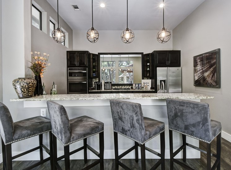 Community Kitchen and Cafe at Nalle Woods Apartments in Austin, Texas