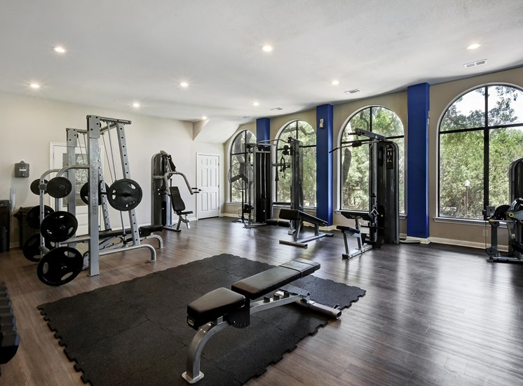 Fitness Center Amenities at Nalle Woods Apartments in Austin, Texas