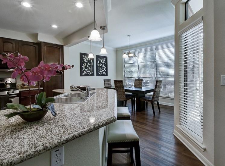 Kitchen Island at Nalle Woods Apartments in Austin, Texas