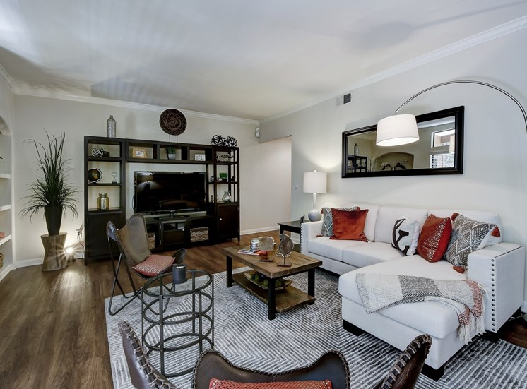Living Room Decor at Nalle Woods Apartments in Austin, Texas