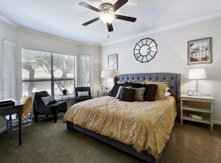 Master Bedroom at Nalle Woods Apartments in Austin, Texas