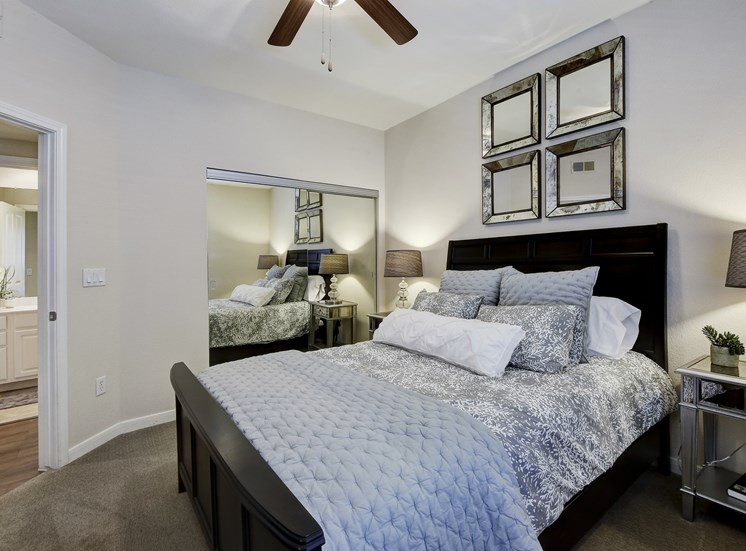 Modern Bedroom Interiors at Nalle Woods Apartments in Austin, Texas